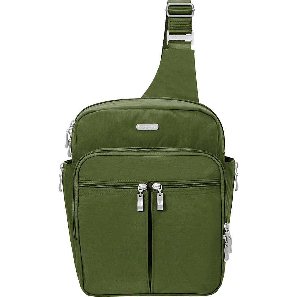 baggallini Messenger Bagg with RFID Moss - baggallini Fabric Handbags - Handbags, Fabric Handbags