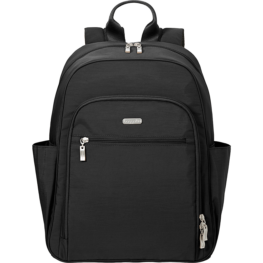 baggallini Essential Laptop Backpack with RFID Black/Sand - baggallini Laptop Backpacks - Backpacks, Laptop Backpacks
