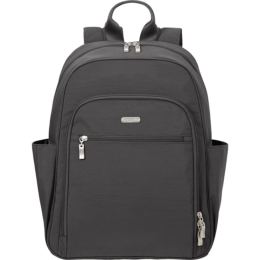 baggallini Essential Laptop Backpack with RFID Charcoal - baggallini Laptop Backpacks - Backpacks, Laptop Backpacks