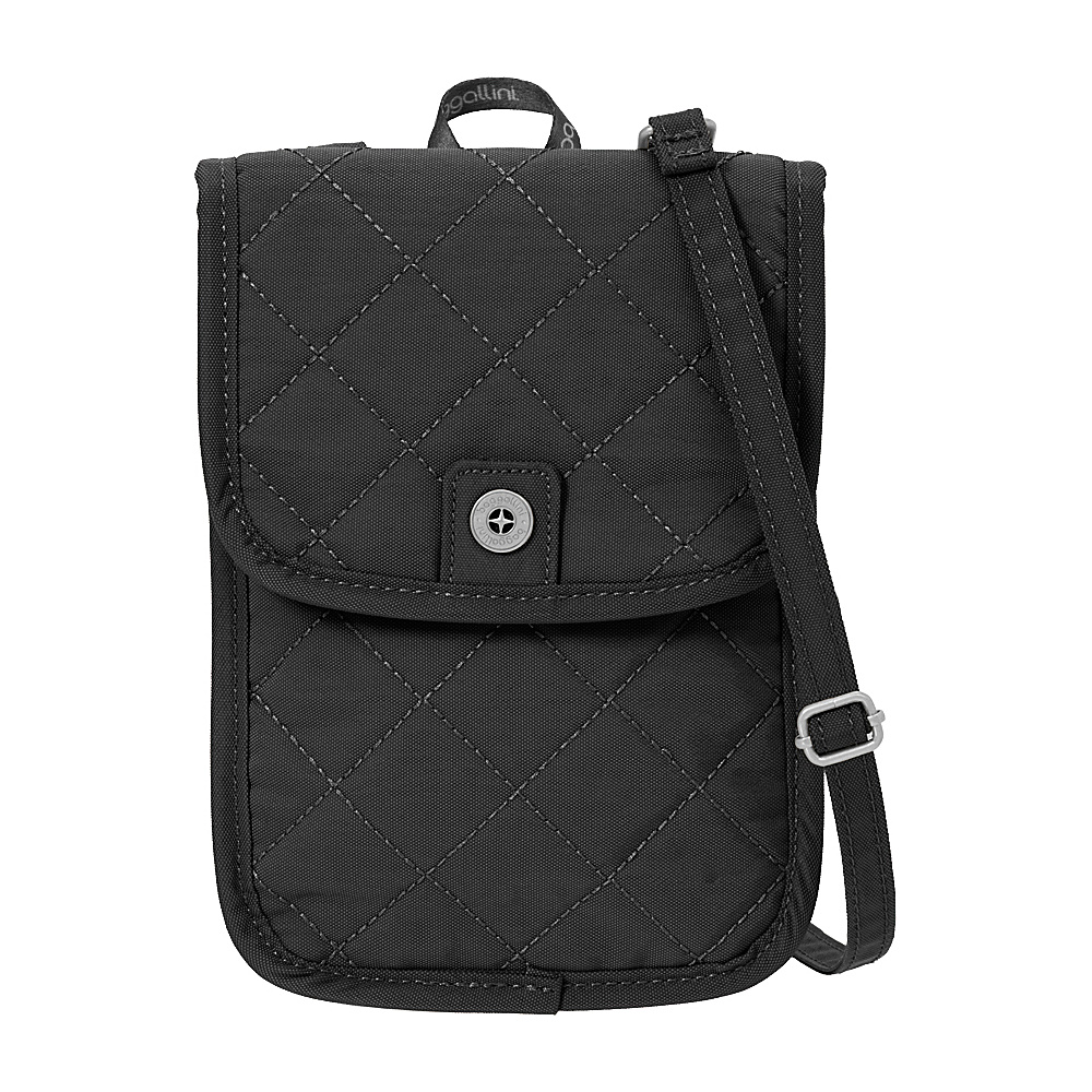 baggallini RFID Passport Crossbody Black/Charcoal - baggallini Fabric Handbags - Handbags, Fabric Handbags