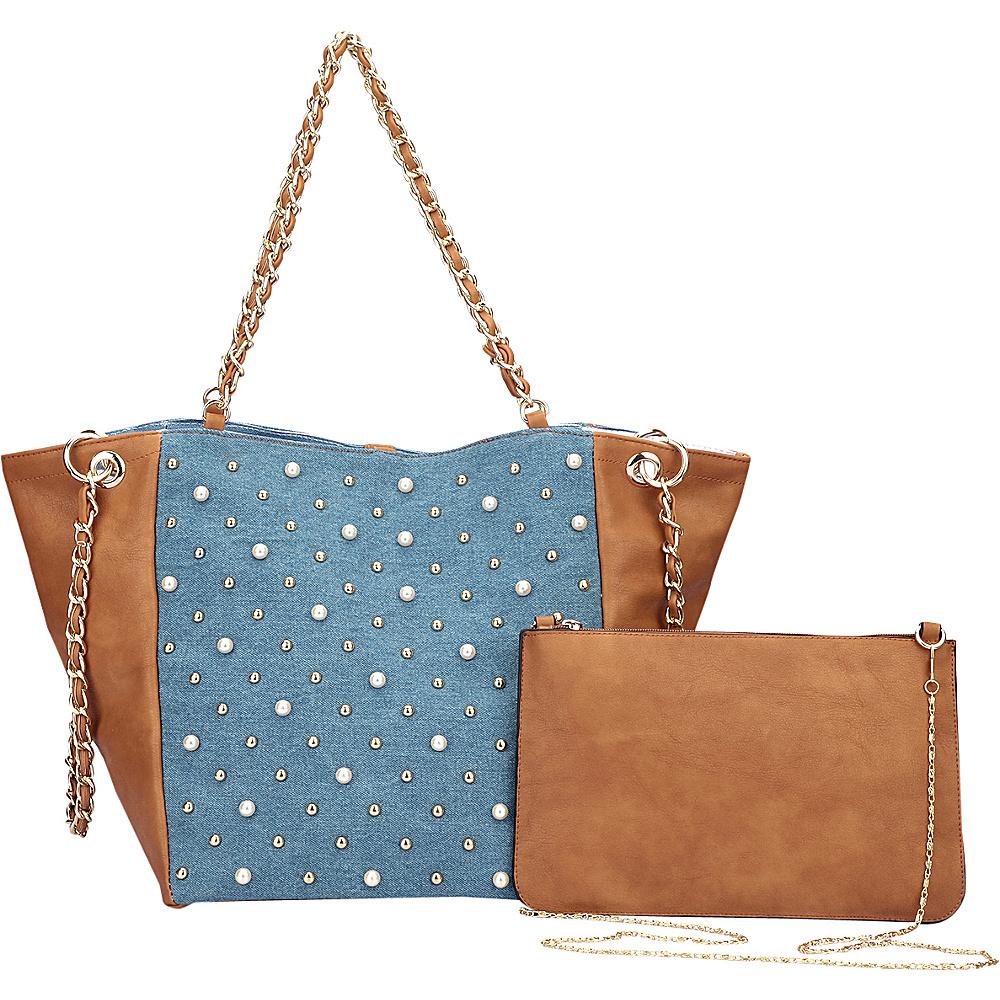 Dasein Chain Link Tote Brown - Dasein Manmade Handbags - Handbags, Manmade Handbags