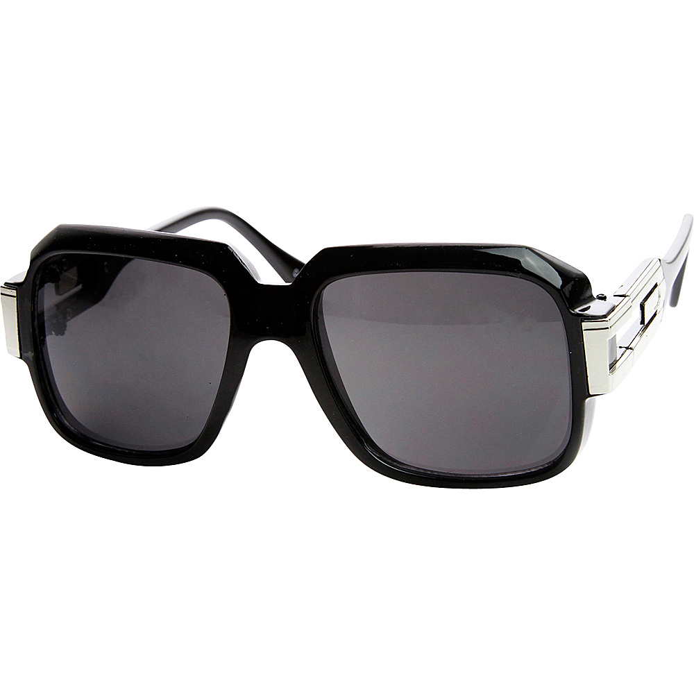 SW Global Abby Square Fashion Sunglasses Black-Silver - SW Global Eyewear - Fashion Accessories, Eyewear
