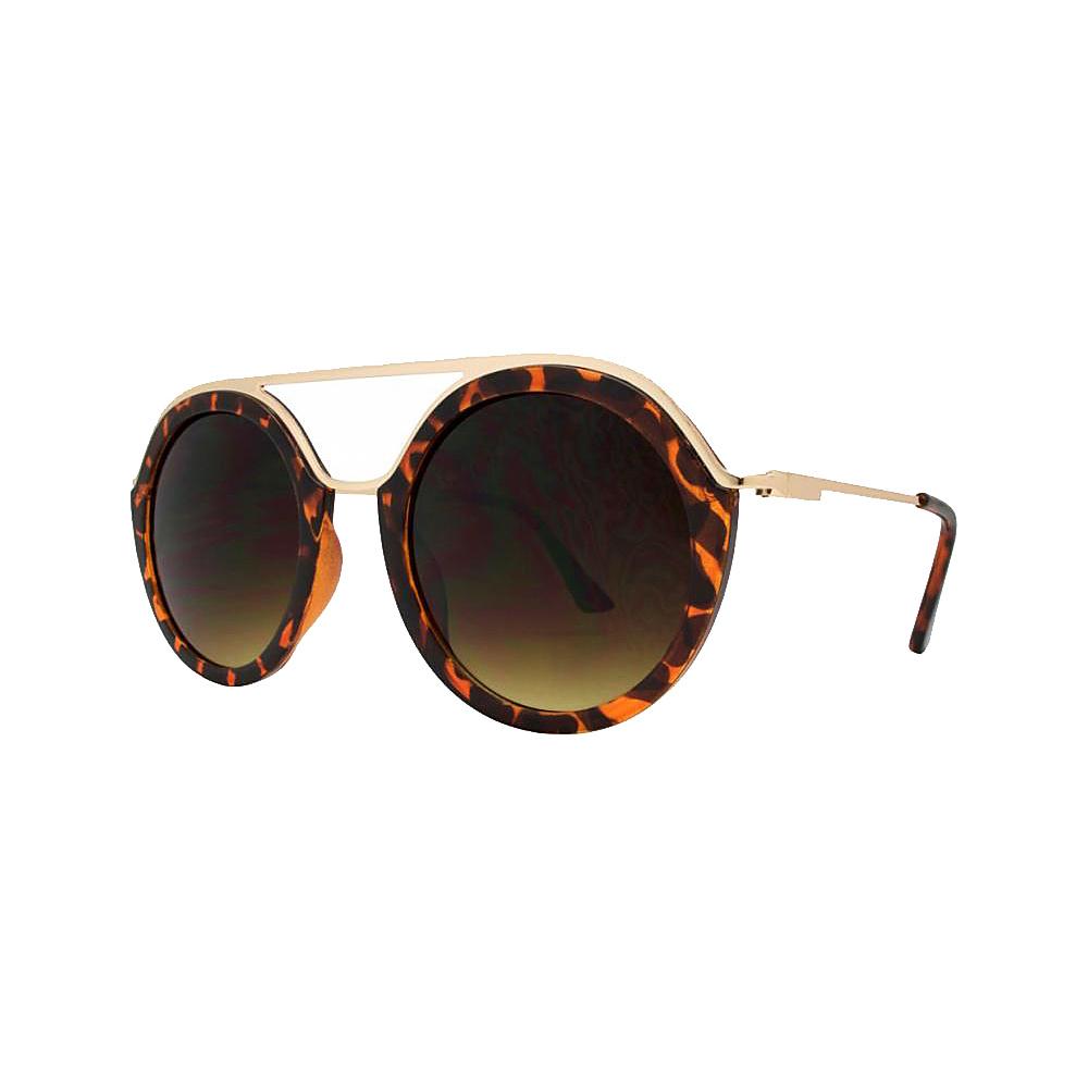 SW Global Classy Double Bridge Round Frame UV400 Sunglasses Gold - SW Global Eyewear - Fashion Accessories, Eyewear