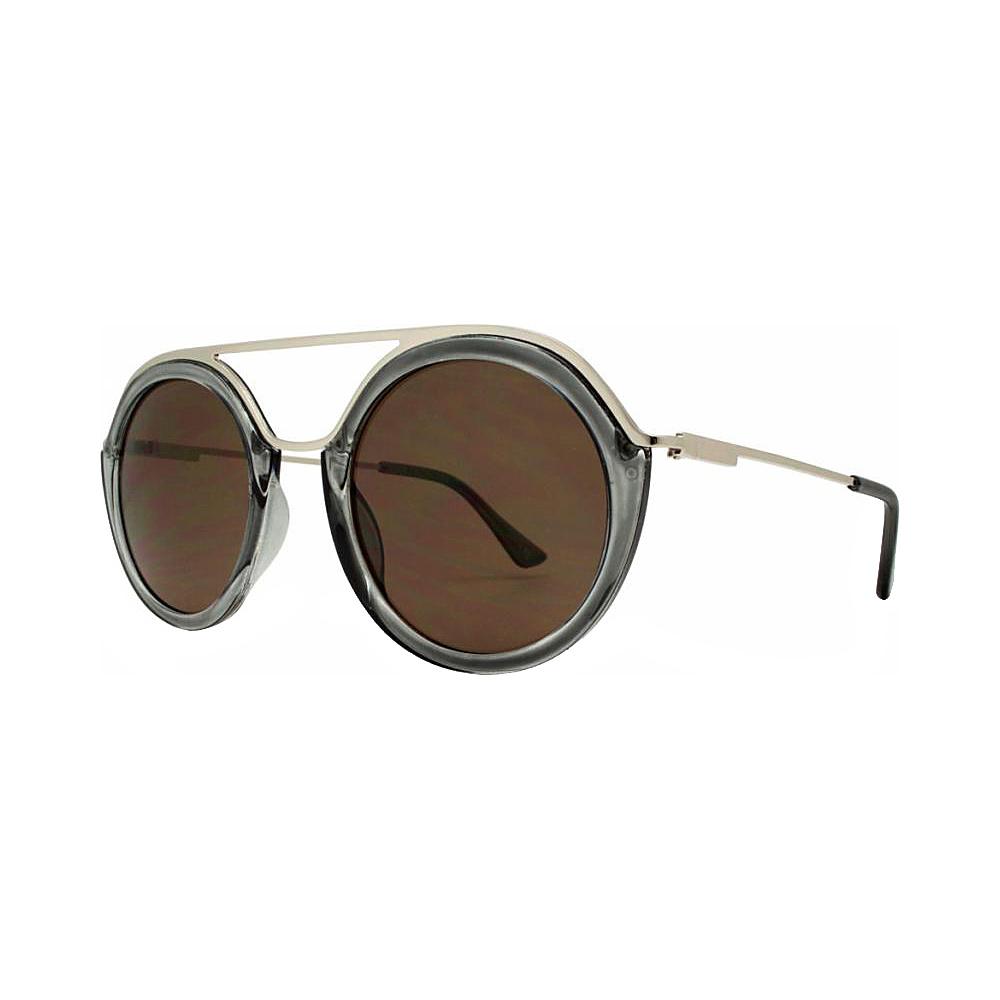 SW Global Classy Double Bridge Round Frame UV400 Sunglasses Grey - SW Global Eyewear - Fashion Accessories, Eyewear