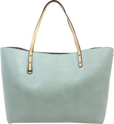 Emilie M Filipa Large Double Shoulder Bag Sea Green - Emilie M Manmade Handbags