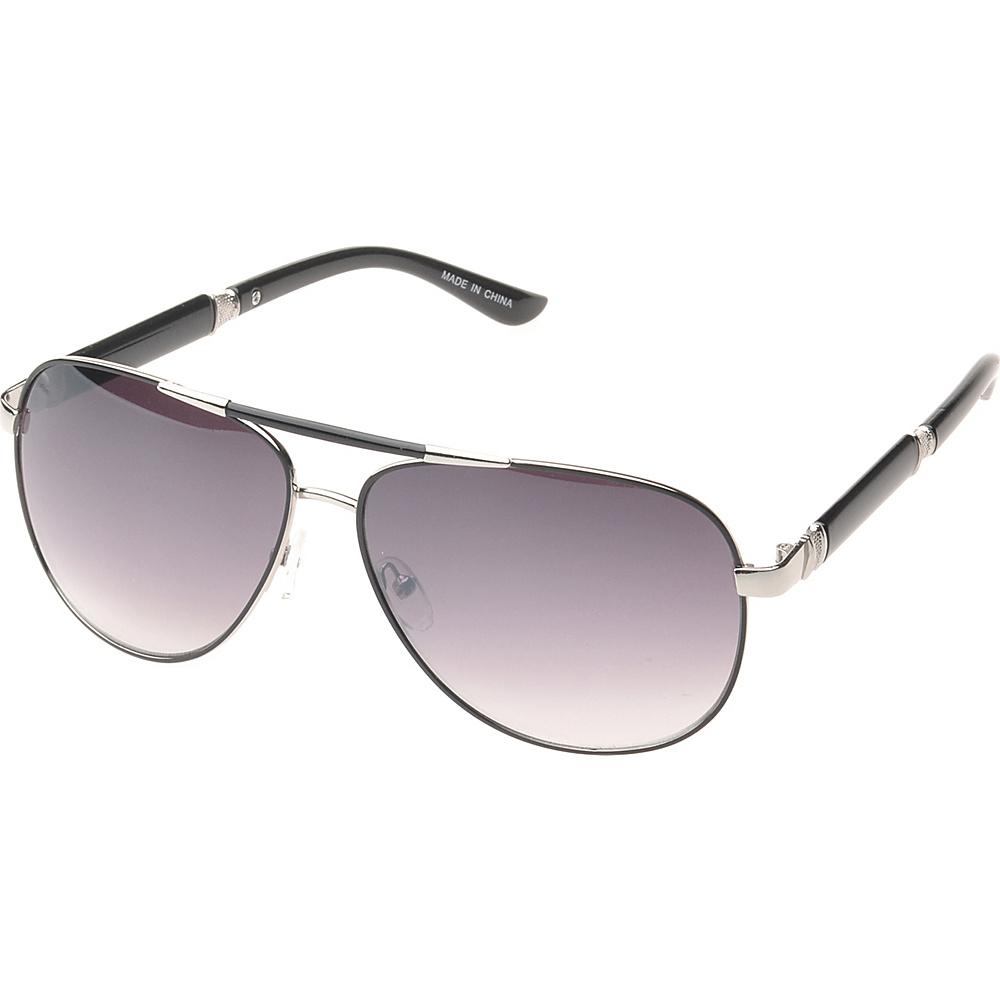 SW Global Ashville Double Bridge Aviator Fashion Sunglasses Black - SW Global Eyewear - Fashion Accessories, Eyewear