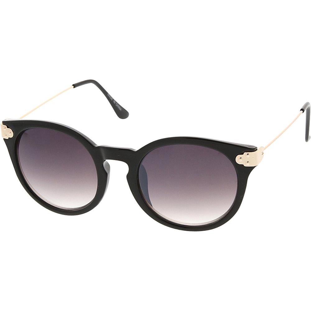 SW Global Womens Retro Fashion Round Cat Eye Keyhole Sunglasses Black - SW Global Eyewear - Fashion Accessories, Eyewear