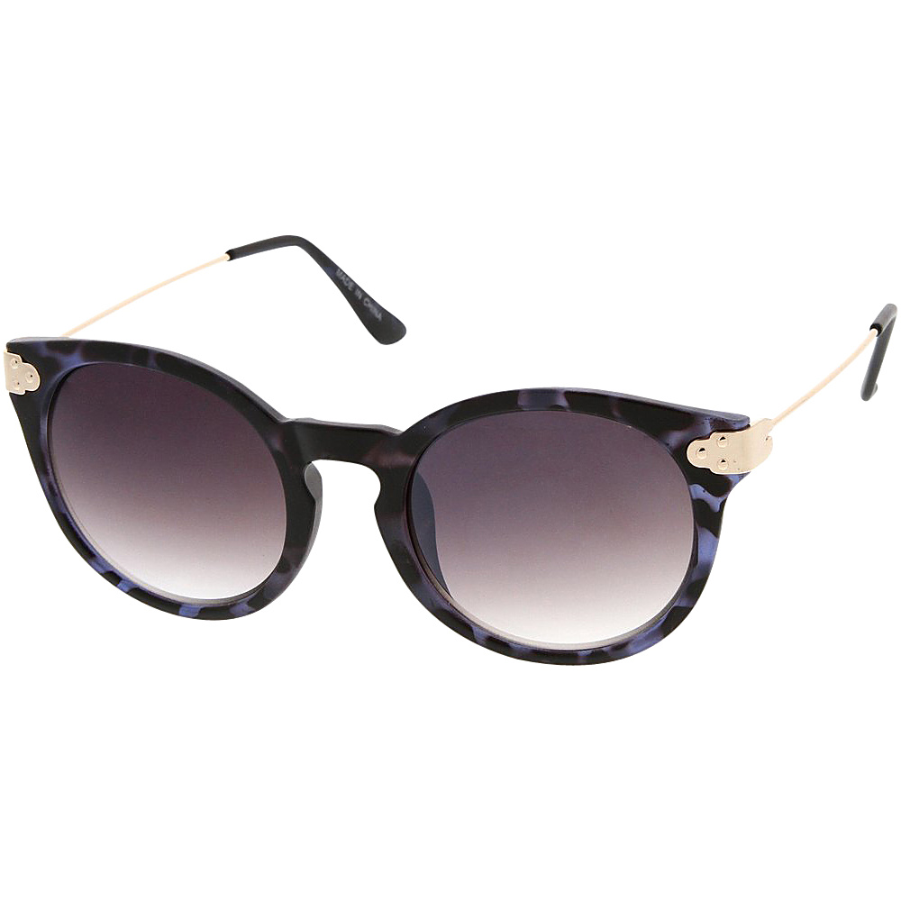 SW Global Womens Retro Fashion Round Cat Eye Keyhole Sunglasses Purple - SW Global Eyewear - Fashion Accessories, Eyewear