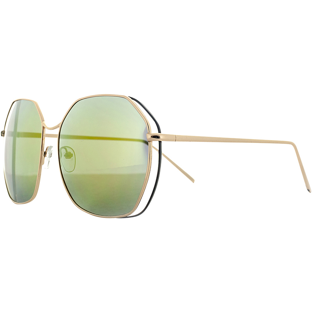 SW Global Double Wired Geo Frame Aviator UV400 Sunglasses Gold - SW Global Eyewear - Fashion Accessories, Eyewear