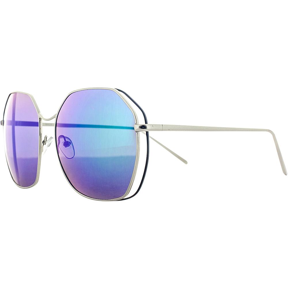 SW Global Double Wired Geo Frame Aviator UV400 Sunglasses Blue - SW Global Eyewear - Fashion Accessories, Eyewear