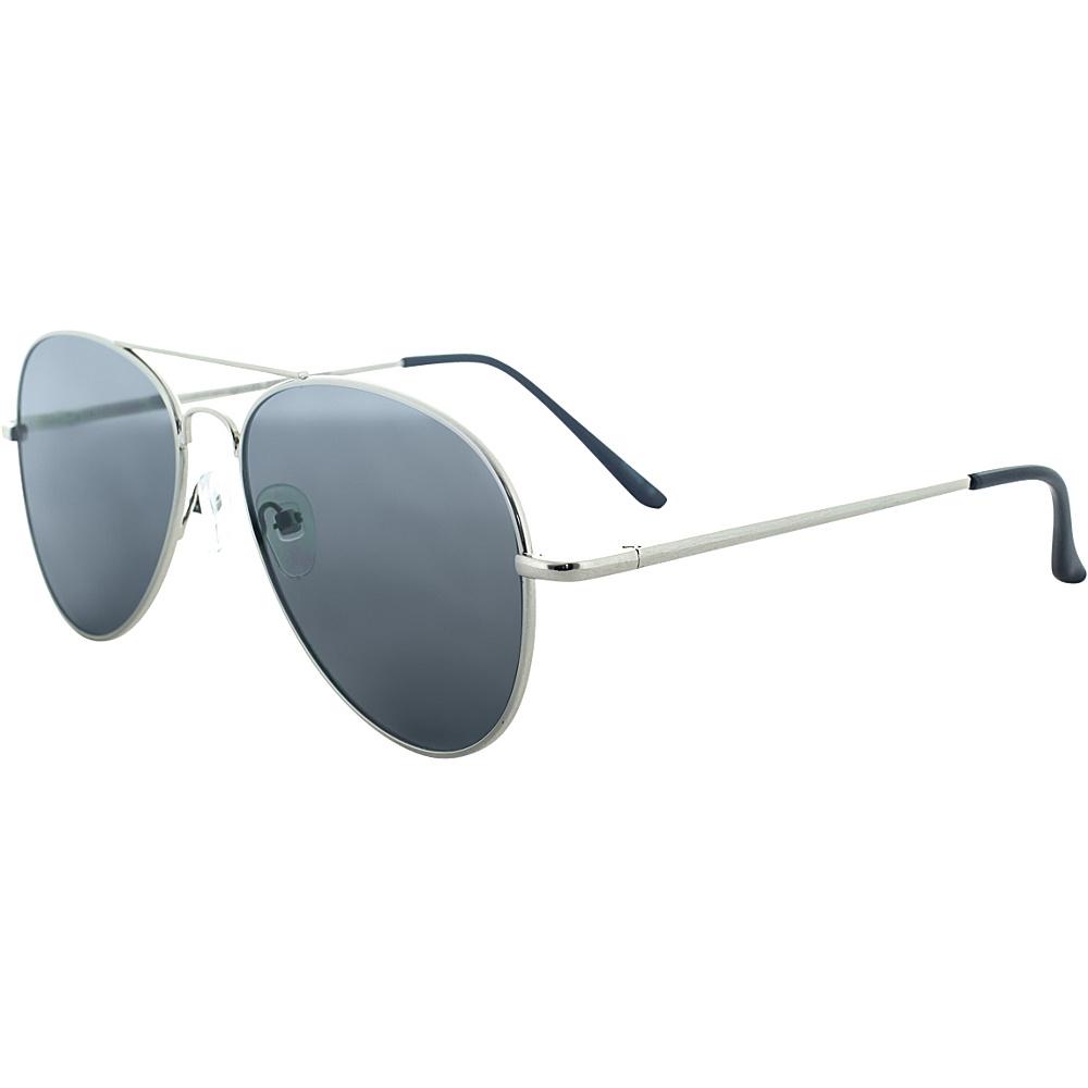 SW Global Ultra Light Weight Sport Aviator UV400 Sunglasses Silver Black - SW Global Eyewear - Fashion Accessories, Eyewear