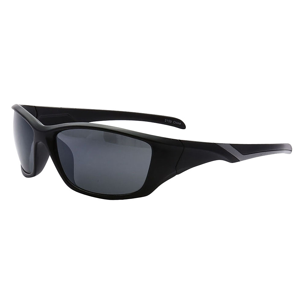 SW Global Outdoors Sports Full Square Framed UV400 Sunglasses Black Grey Black - SW Global Eyewear - Fashion Accessories, Eyewear