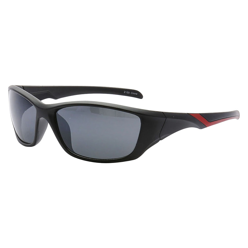 SW Global Outdoors Sports Full Square Framed UV400 Sunglasses Black Red Black - SW Global Eyewear - Fashion Accessories, Eyewear