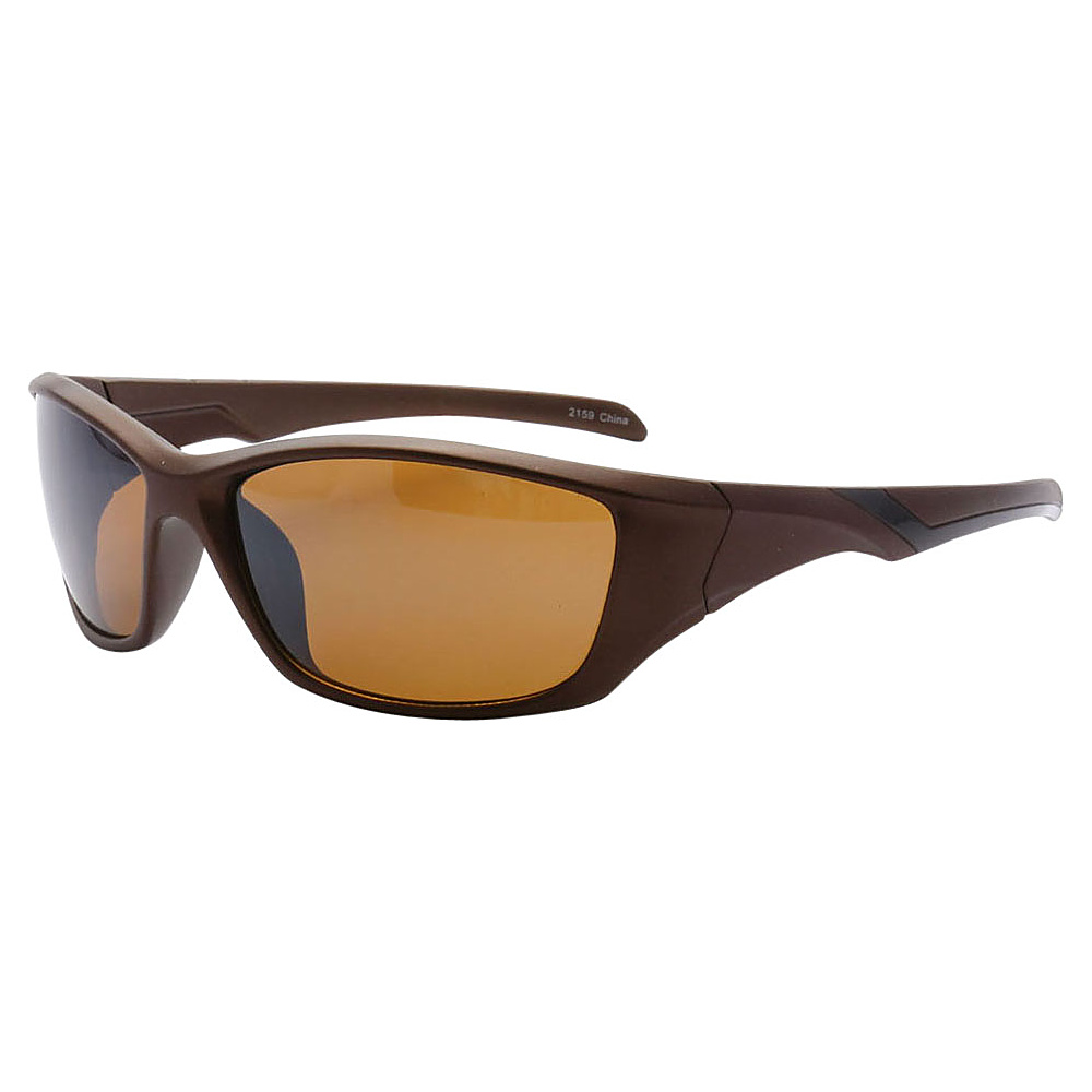 SW Global Outdoors Sports Full Square Framed UV400 Sunglasses Brown Brown - SW Global Eyewear - Fashion Accessories, Eyewear