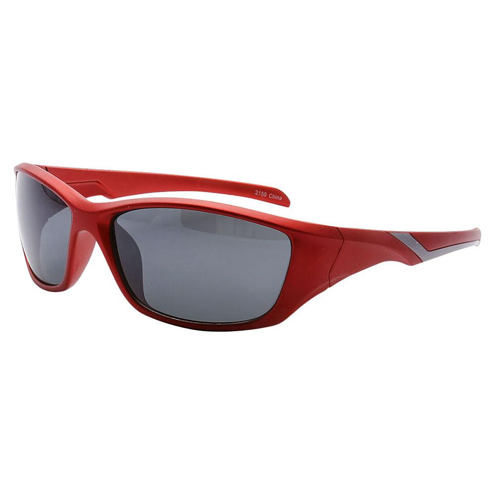 SW Global Outdoors Sports Full Square Framed UV400 Sunglasses Red Black - SW Global Eyewear - Fashion Accessories, Eyewear