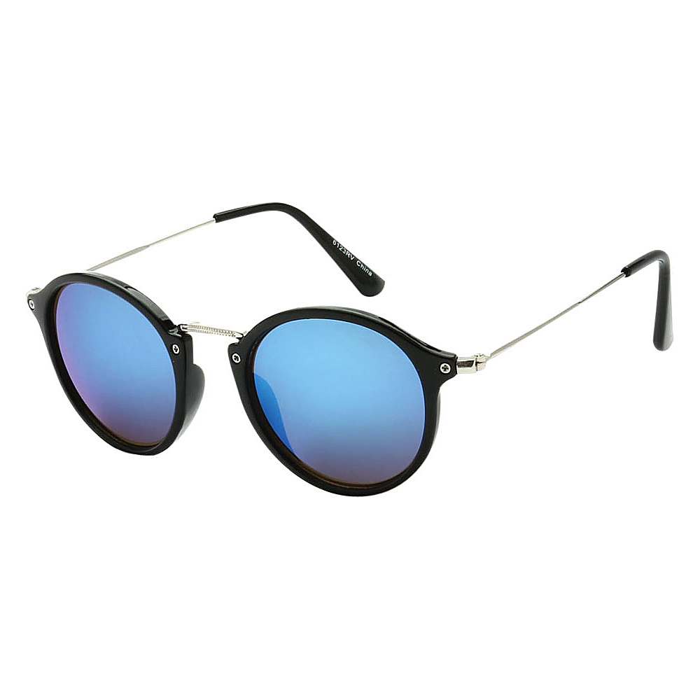 SW Global Round Fashion Club UV400 Sunglasses Black Blue - SW Global Eyewear - Fashion Accessories, Eyewear