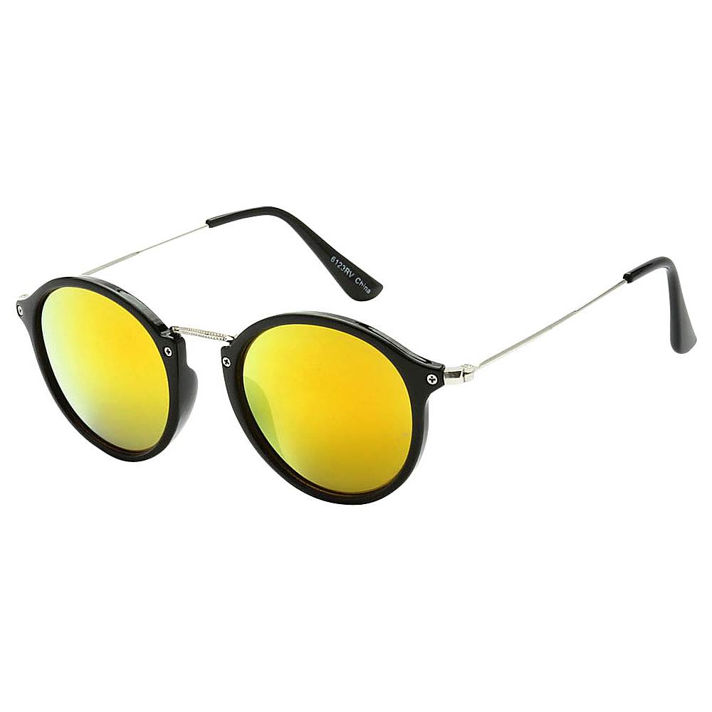 SW Global Round Fashion Club UV400 Sunglasses Black Yellow - SW Global Eyewear - Fashion Accessories, Eyewear