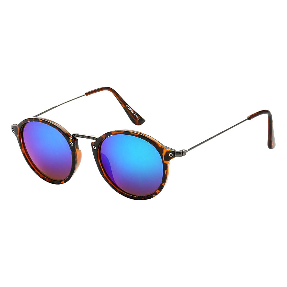 SW Global Round Fashion Club UV400 Sunglasses Leopard Blue Purple - SW Global Eyewear - Fashion Accessories, Eyewear