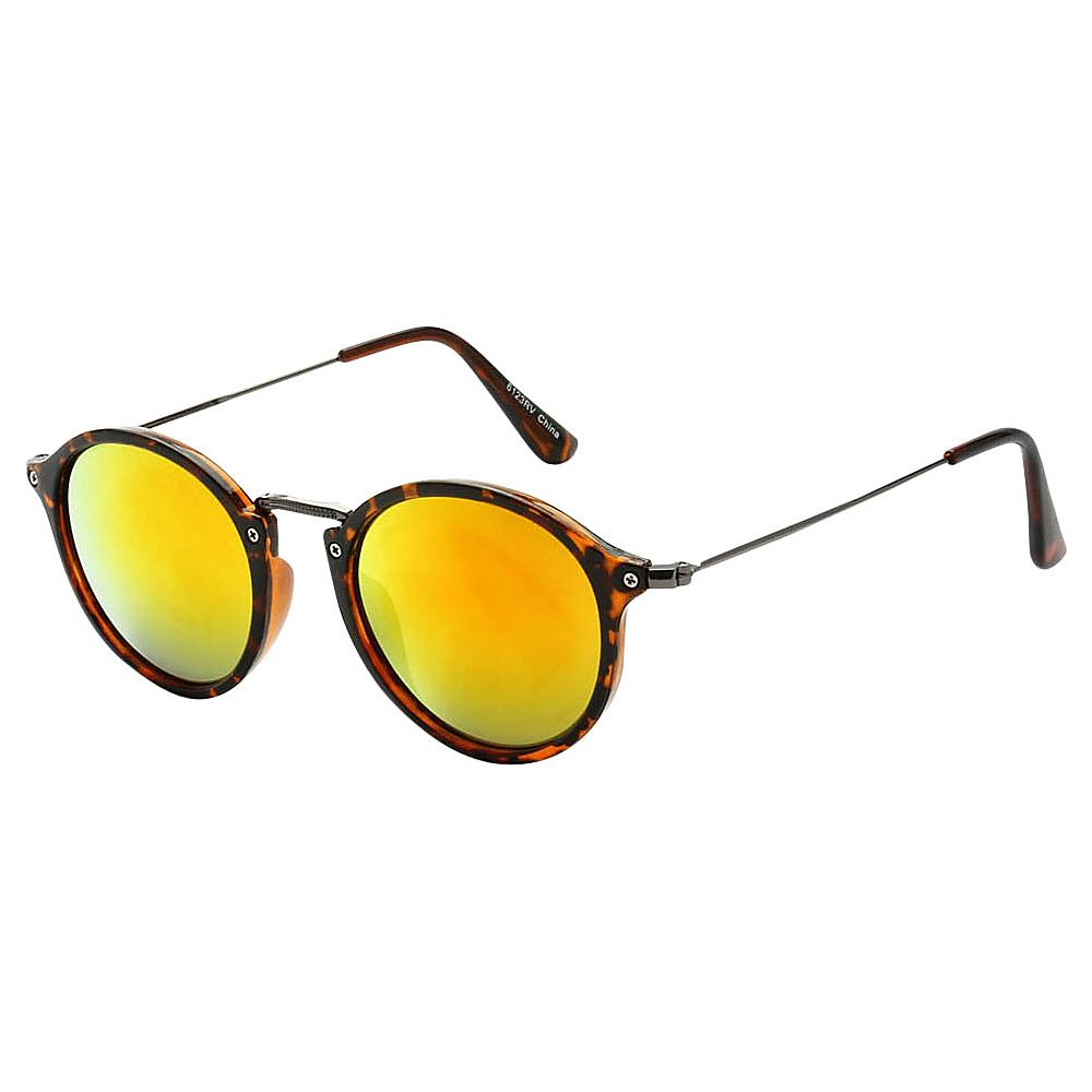 SW Global Round Fashion Club UV400 Sunglasses Leopard Yellow - SW Global Eyewear - Fashion Accessories, Eyewear
