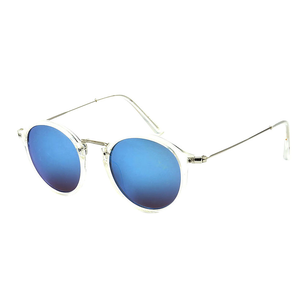 SW Global Round Fashion Club UV400 Sunglasses Clear Blue - SW Global Eyewear - Fashion Accessories, Eyewear