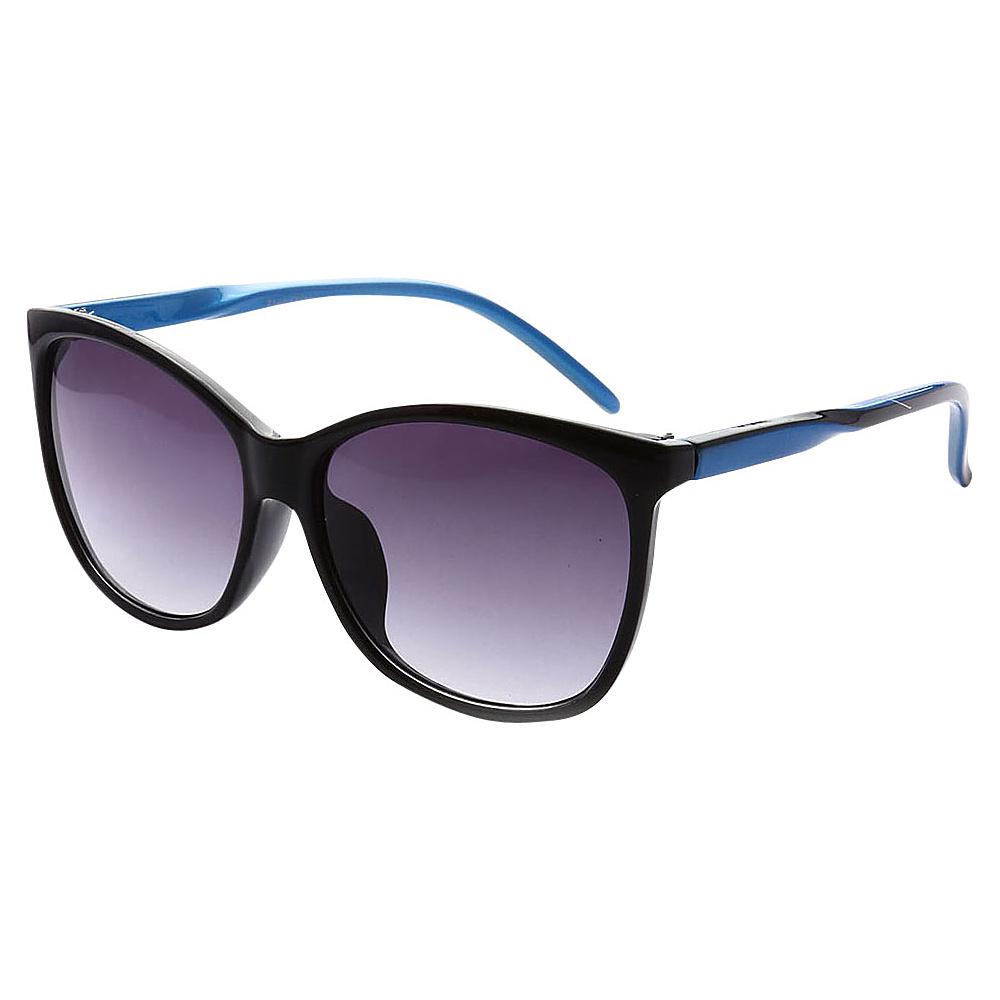 SW Global Addison Full Frame Retro Square UV400 Sunglasses Black blue - SW Global Eyewear - Fashion Accessories, Eyewear