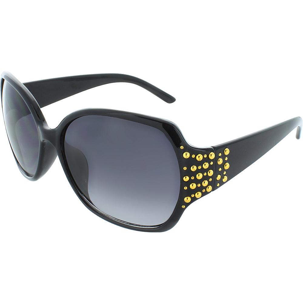 SW Global Studded 58mm Square Sunglasses Black-Gold - SW Global Eyewear - Fashion Accessories, Eyewear