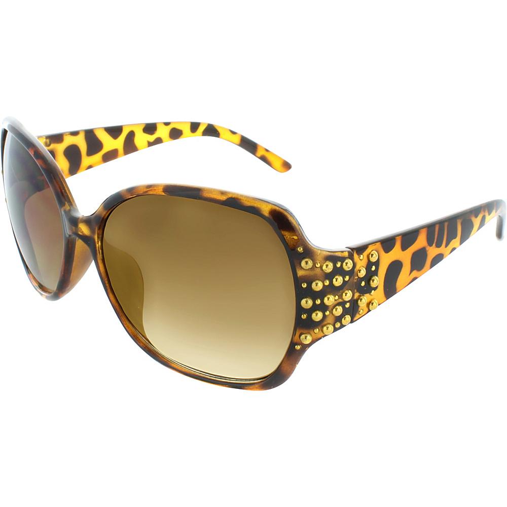 SW Global Studded 58mm Square Sunglasses Leopard - SW Global Eyewear - Fashion Accessories, Eyewear