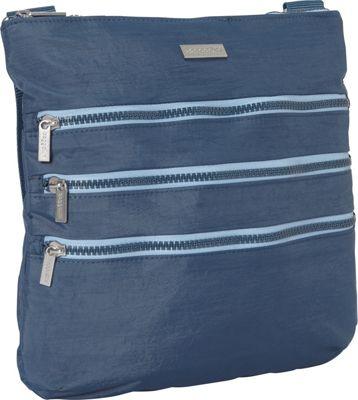 baggallini Yosemite Crossbody Black/Pewter - baggallini Fabric Handbags