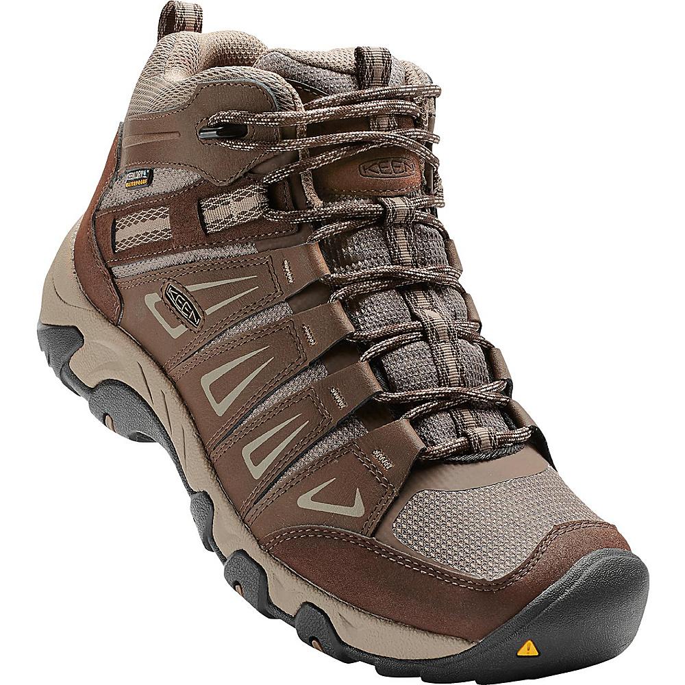 KEEN Mens Oakridge Mid Waterproof Boot 13 - Cascade/Brindle - KEEN Mens Footwear - Apparel & Footwear, Men's Footwear
