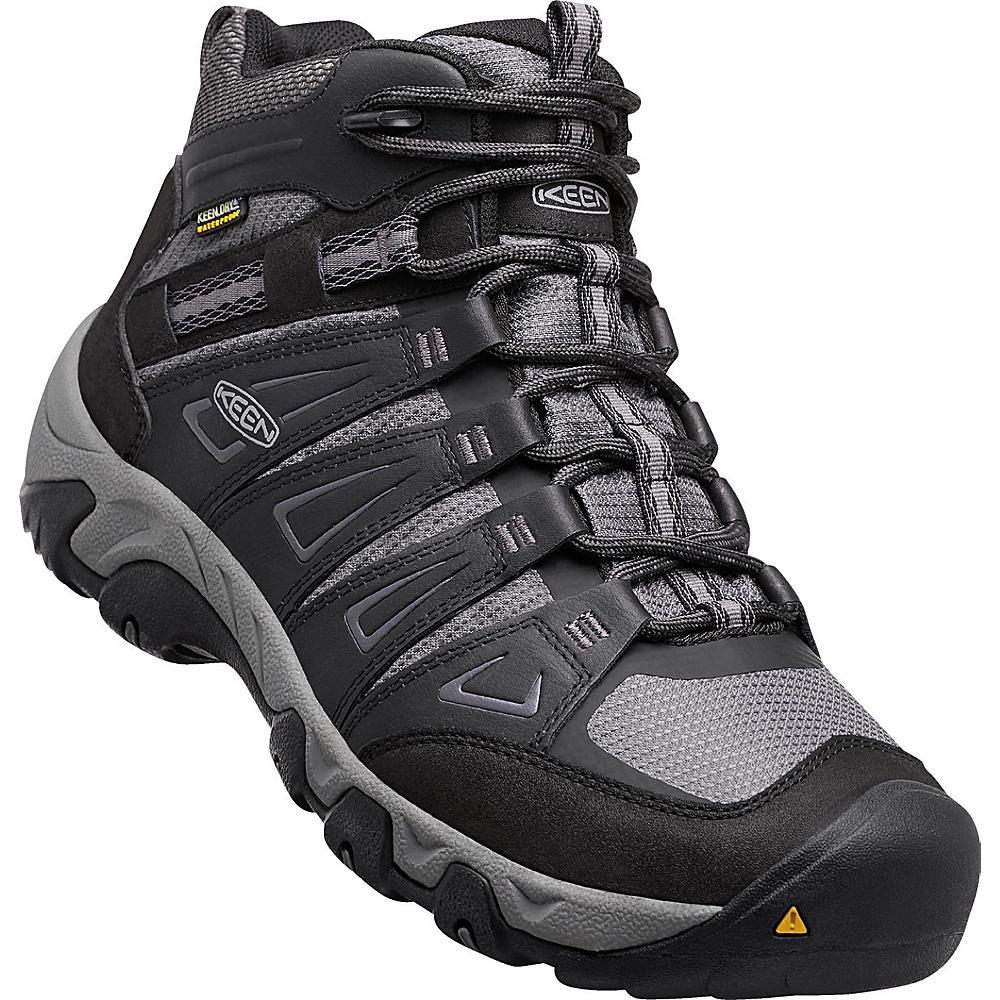 KEEN Mens Oakridge Mid Waterproof Boot 15 - W (Wide) - Magnet/Gargoyle - KEEN Mens Footwear - Apparel & Footwear, Men's Footwear