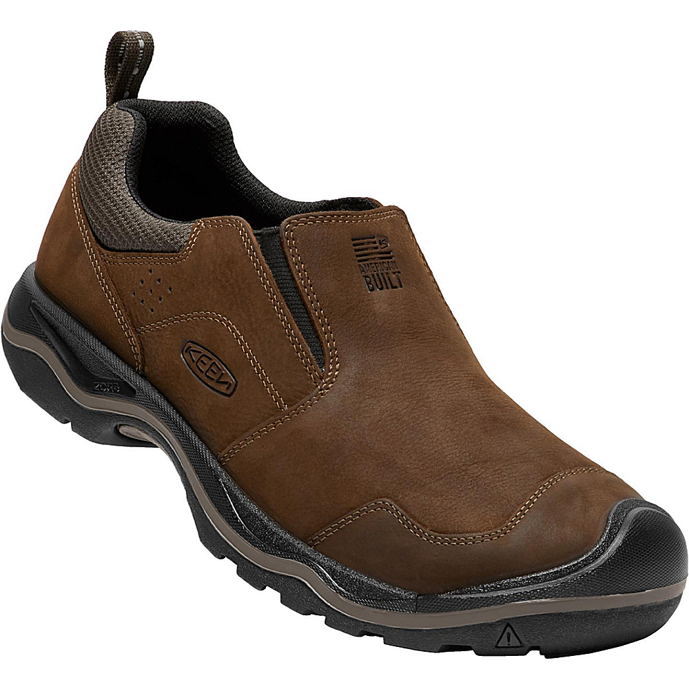 KEEN Mens Rialto Slip On 9 - Dark Earth - KEEN Mens Footwear - Apparel & Footwear, Men's Footwear