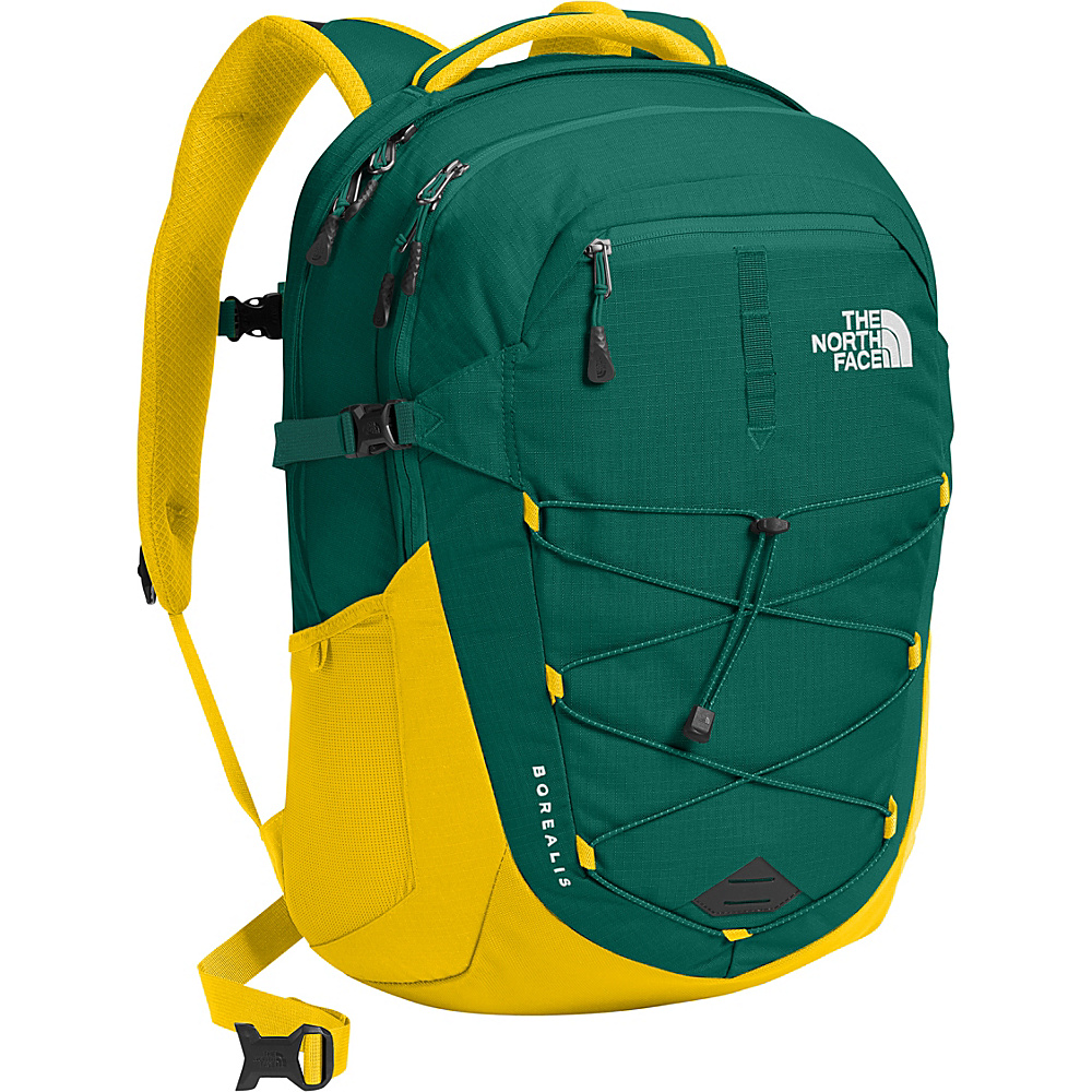 The North Face Borealis Laptop Backpack 15- Sale Colors Night Green/Canary Yellow - The North Face Business & Laptop Backpacks - Backpacks, Business & Laptop Backpacks