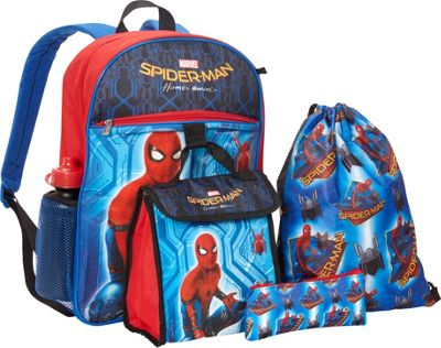 Marvel Spiderman 5pc Set Backpack Blue - Marvel Kids' Backpacks 10589508