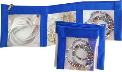 Flanabags ClearPack Pockets  Jewelry Organizer Blue Nylon - Flanabags Packing Aids