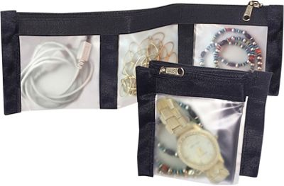 Flanabags ClearPack Pockets  Jewelry Organizer Black Nylon - Flanabags Packing Aids
