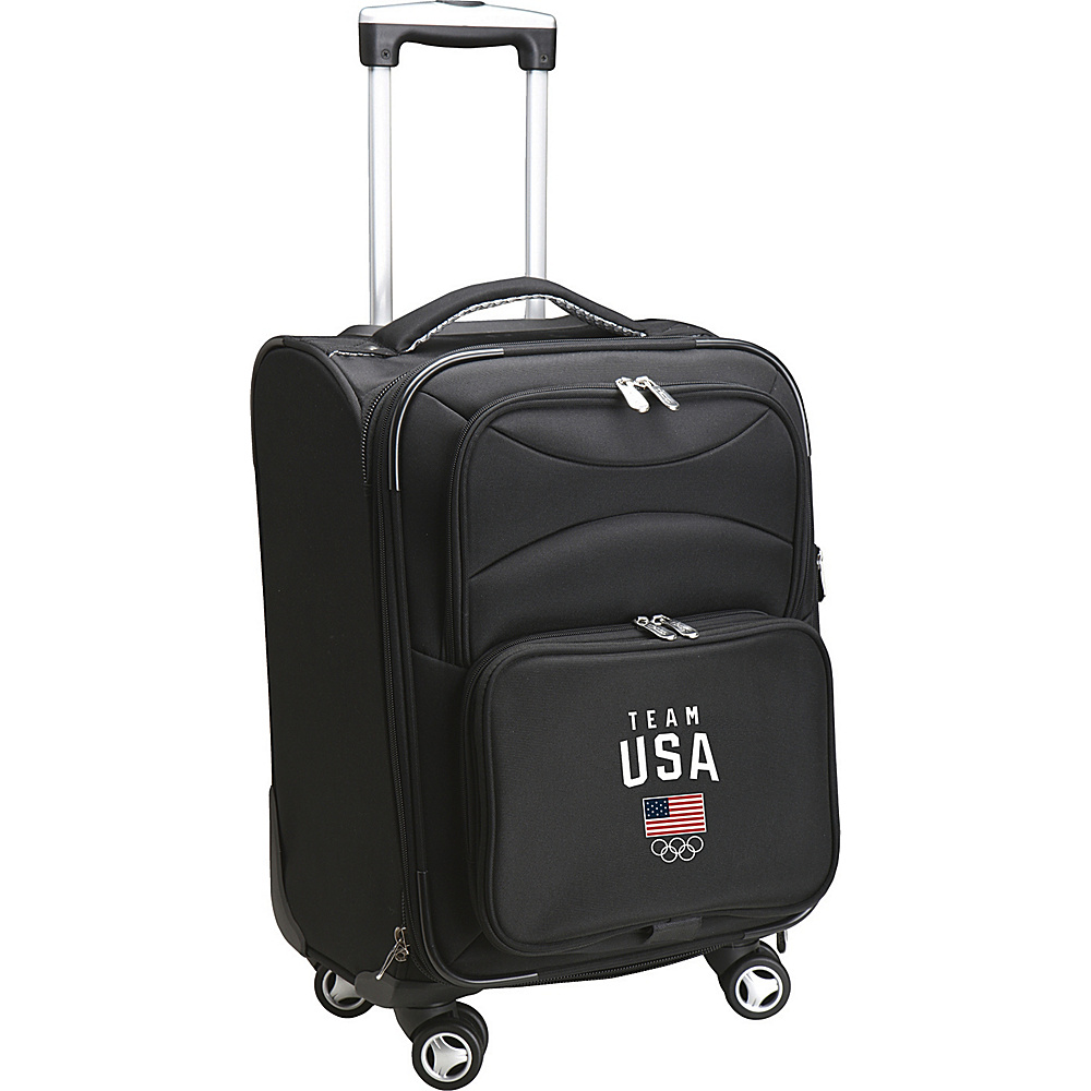 MOJO Denco Team USA Olympics 22 Carry-On Spinner Luggage Black - MOJO Denco Kids Luggage - Luggage, Kids' Luggage