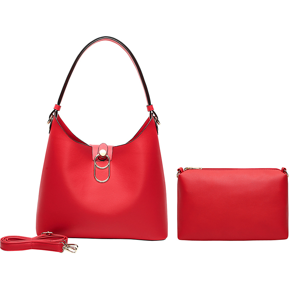 MKF Collection by Mia K. Farrow Soledad Hobo Red - MKF Collection by Mia K. Farrow Manmade Handbags - Handbags, Manmade Handbags