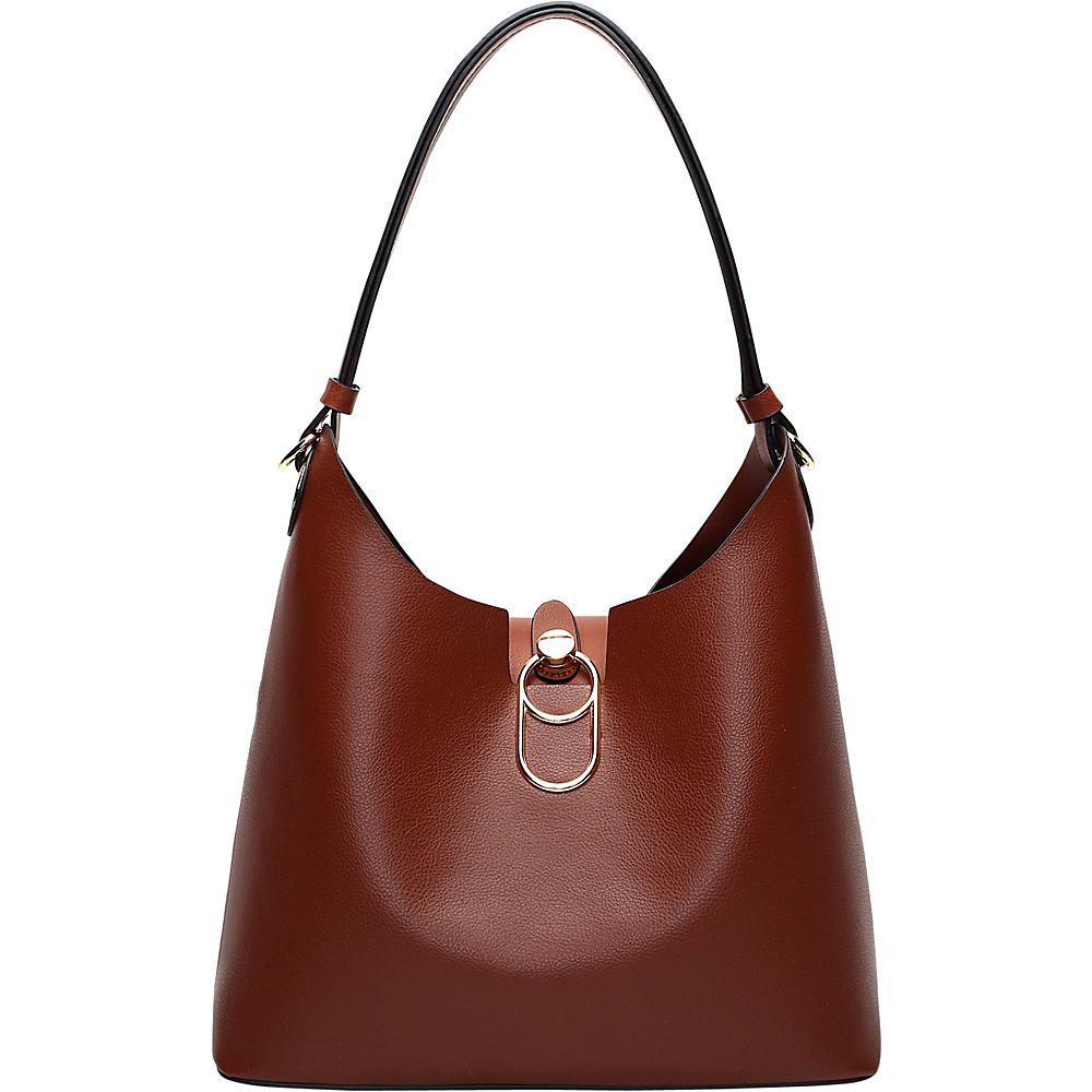 MKF Collection by Mia K. Farrow Soledad Hobo Brown - MKF Collection by Mia K. Farrow Manmade Handbags - Handbags, Manmade Handbags