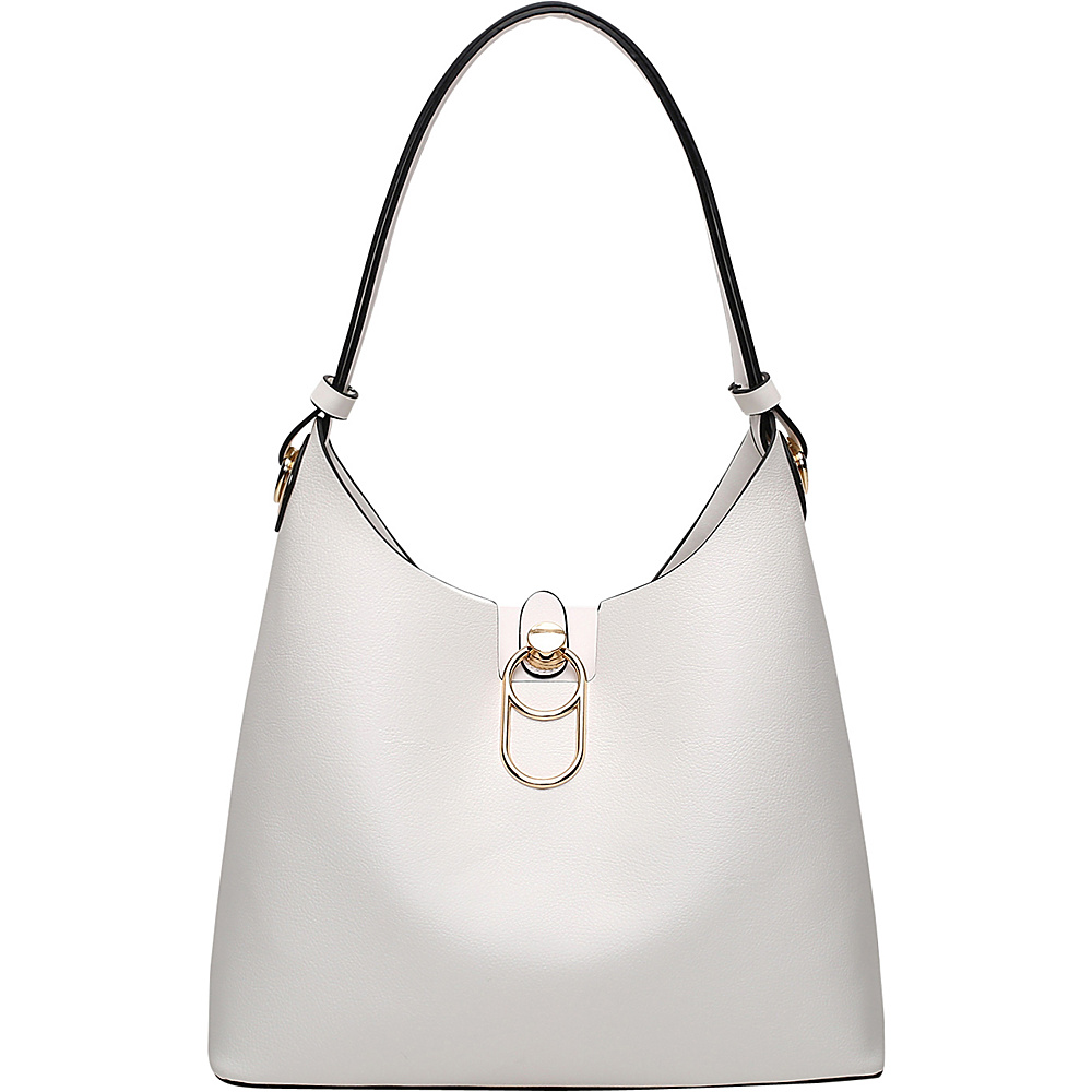 MKF Collection by Mia K. Farrow Soledad Hobo White - MKF Collection by Mia K. Farrow Manmade Handbags - Handbags, Manmade Handbags