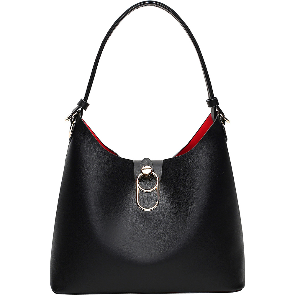 MKF Collection by Mia K. Farrow Soledad Hobo Black - MKF Collection by Mia K. Farrow Manmade Handbags - Handbags, Manmade Handbags