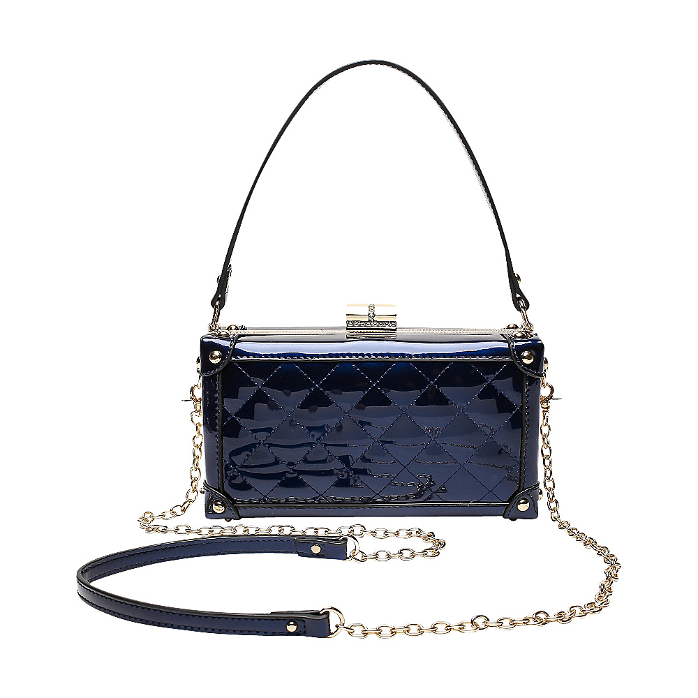 MKF Collection by Mia K. Farrow Lucinda Evening Crossbody Blue - MKF Collection by Mia K. Farrow Manmade Handbags - Handbags, Manmade Handbags
