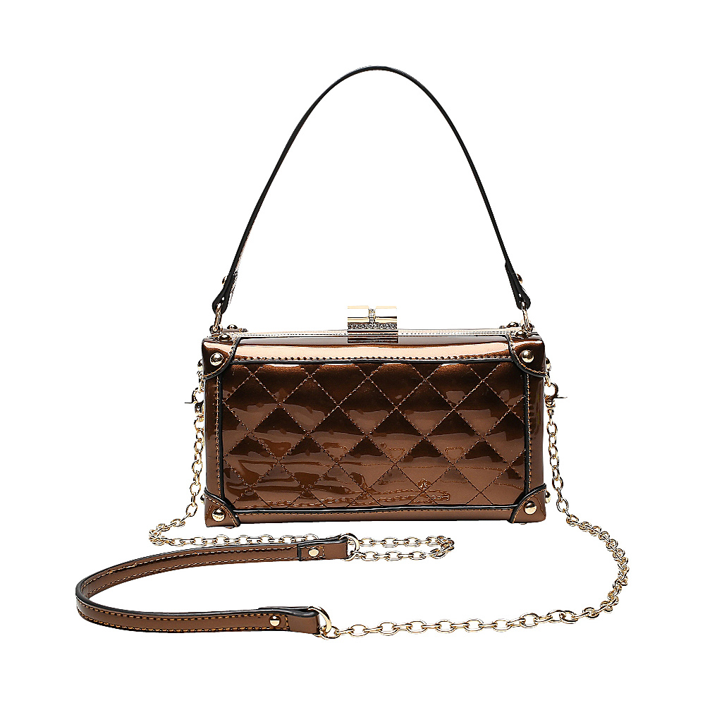 MKF Collection by Mia K. Farrow Lucinda Evening Crossbody Coffee - MKF Collection by Mia K. Farrow Manmade Handbags - Handbags, Manmade Handbags