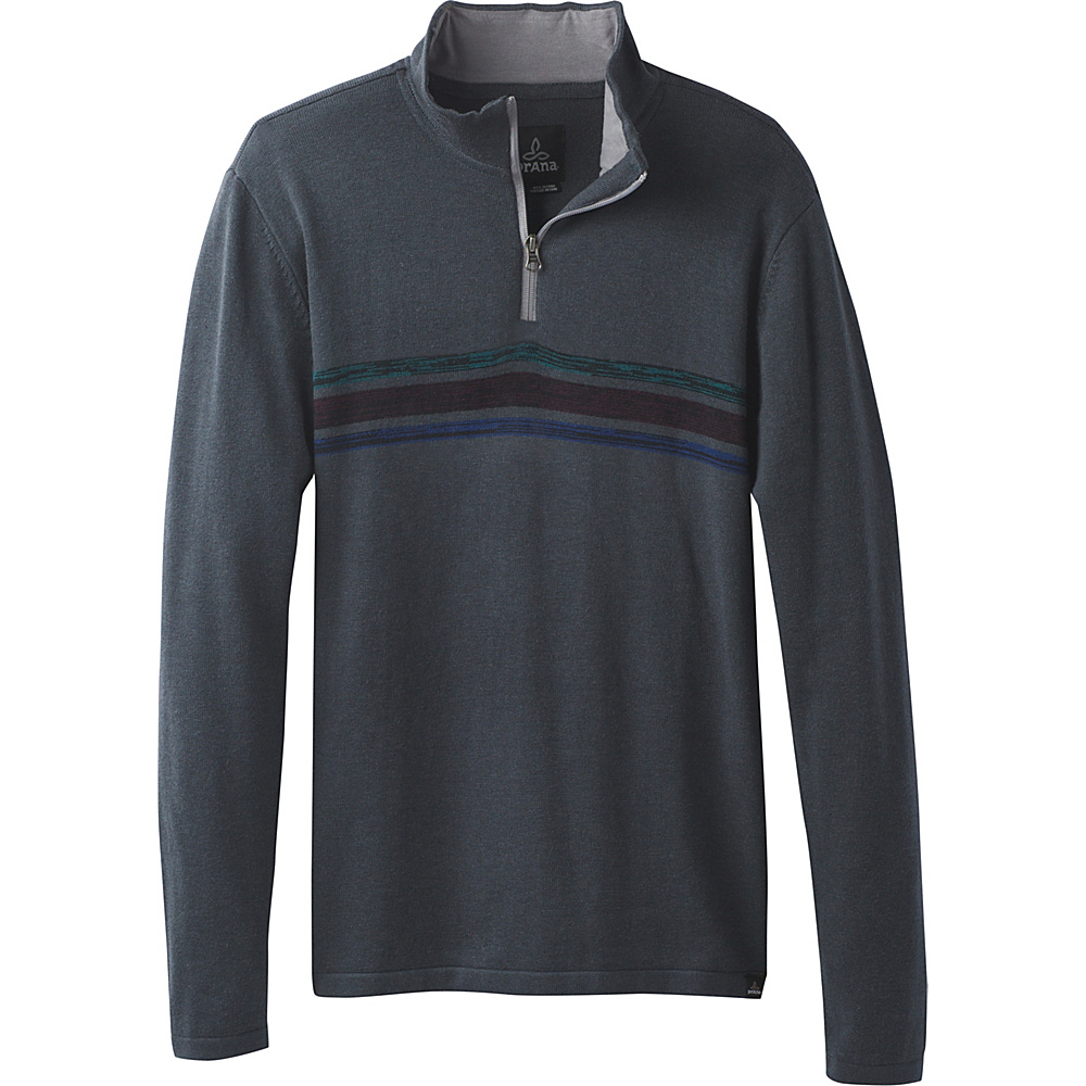 PrAna Holberg 1/4 Zip Sweater M - Coal - PrAna Mens Apparel - Apparel & Footwear, Men's Apparel