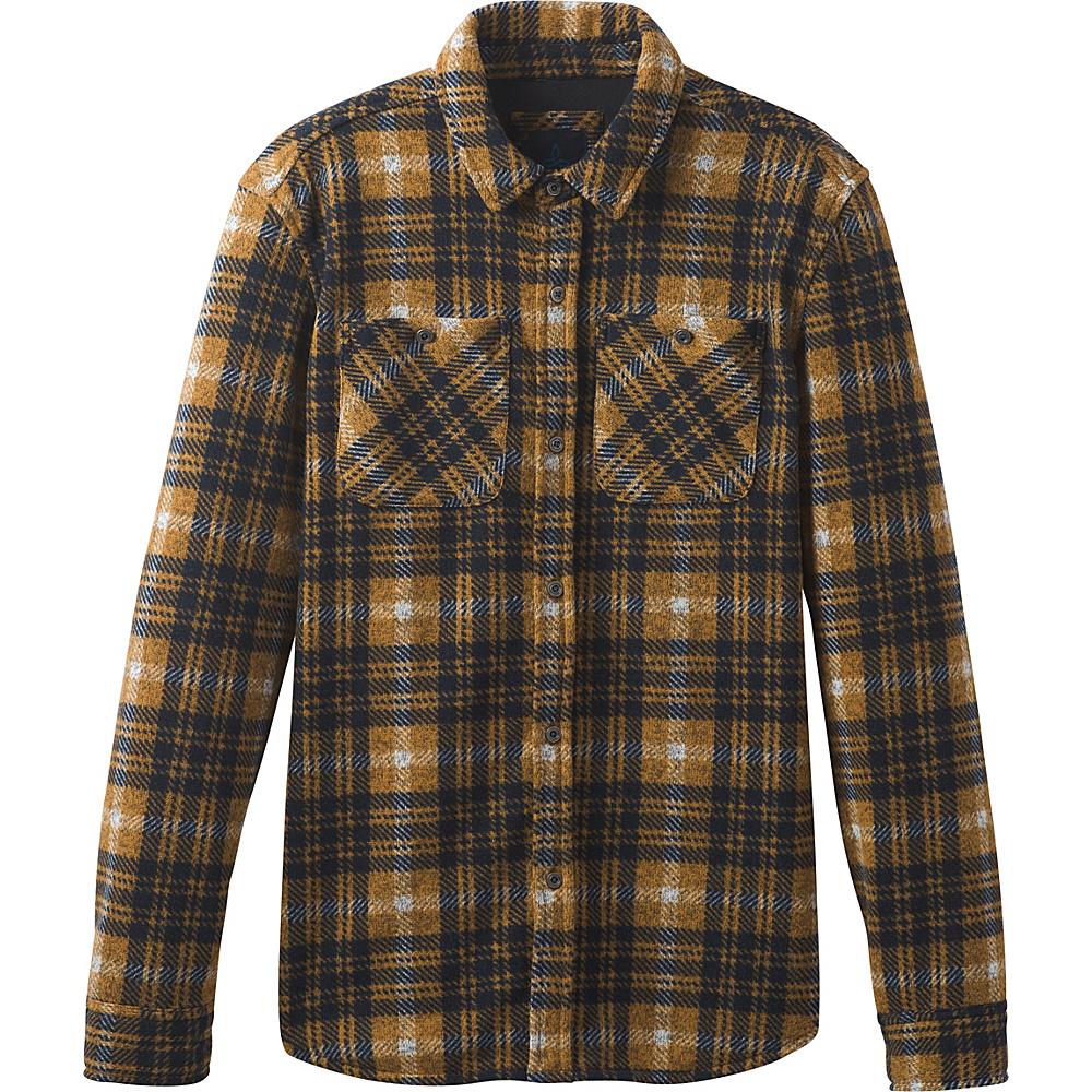 PrAna Everton Long Sleeve Flannel XXL - Bronze - PrAna Mens Apparel - Apparel & Footwear, Men's Apparel