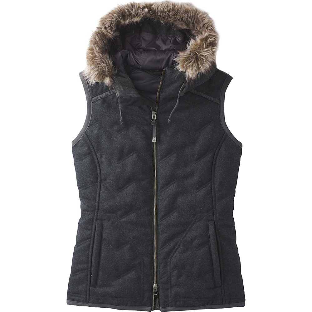 PrAna Calla Vest M - Black Heather - PrAna Womens Apparel - Apparel & Footwear, Women's Apparel
