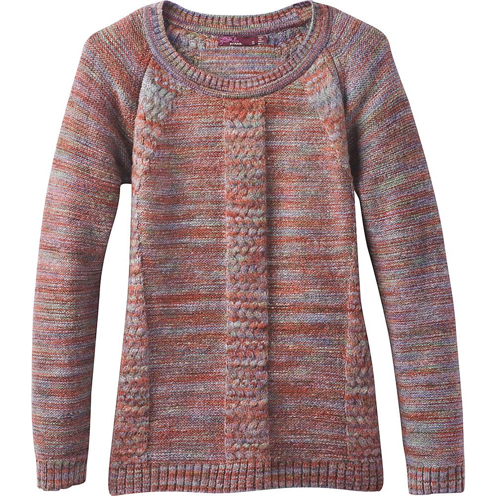 PrAna Kerrolyn Sweater L - Red Umber - PrAna Womens Apparel - Apparel & Footwear, Women's Apparel