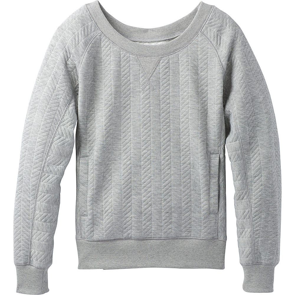PrAna Silverspring Pullover S - Heather Grey - PrAna Womens Apparel - Apparel & Footwear, Women's Apparel