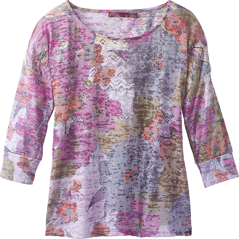 PrAna Bouquet Top L - Deep Fuchsia Springtime - PrAna Womens Apparel - Apparel & Footwear, Women's Apparel