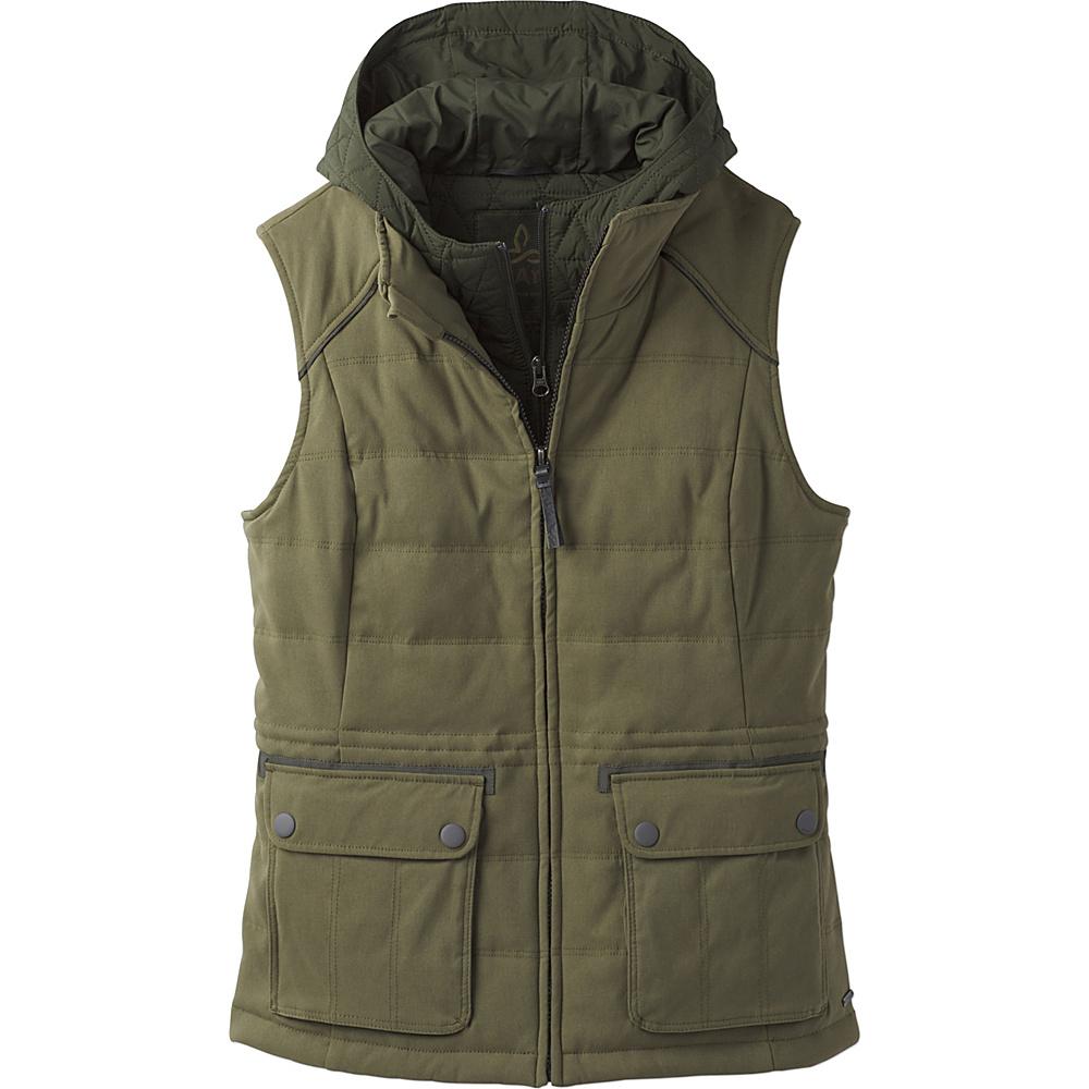 PrAna Halle Insulated Vest XS - Cargo Green - PrAna Womens Apparel - Apparel & Footwear, Women's Apparel