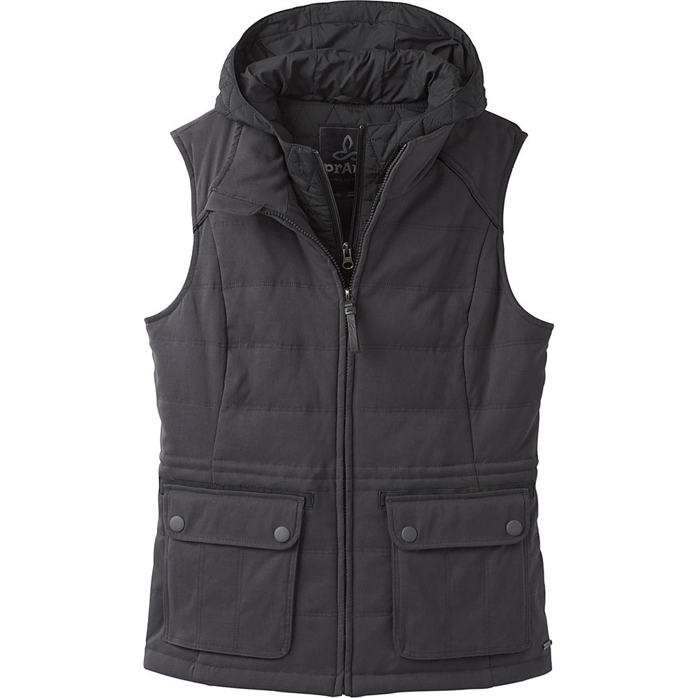 PrAna Halle Insulated Vest XS - Charcoal - PrAna Womens Apparel - Apparel & Footwear, Women's Apparel